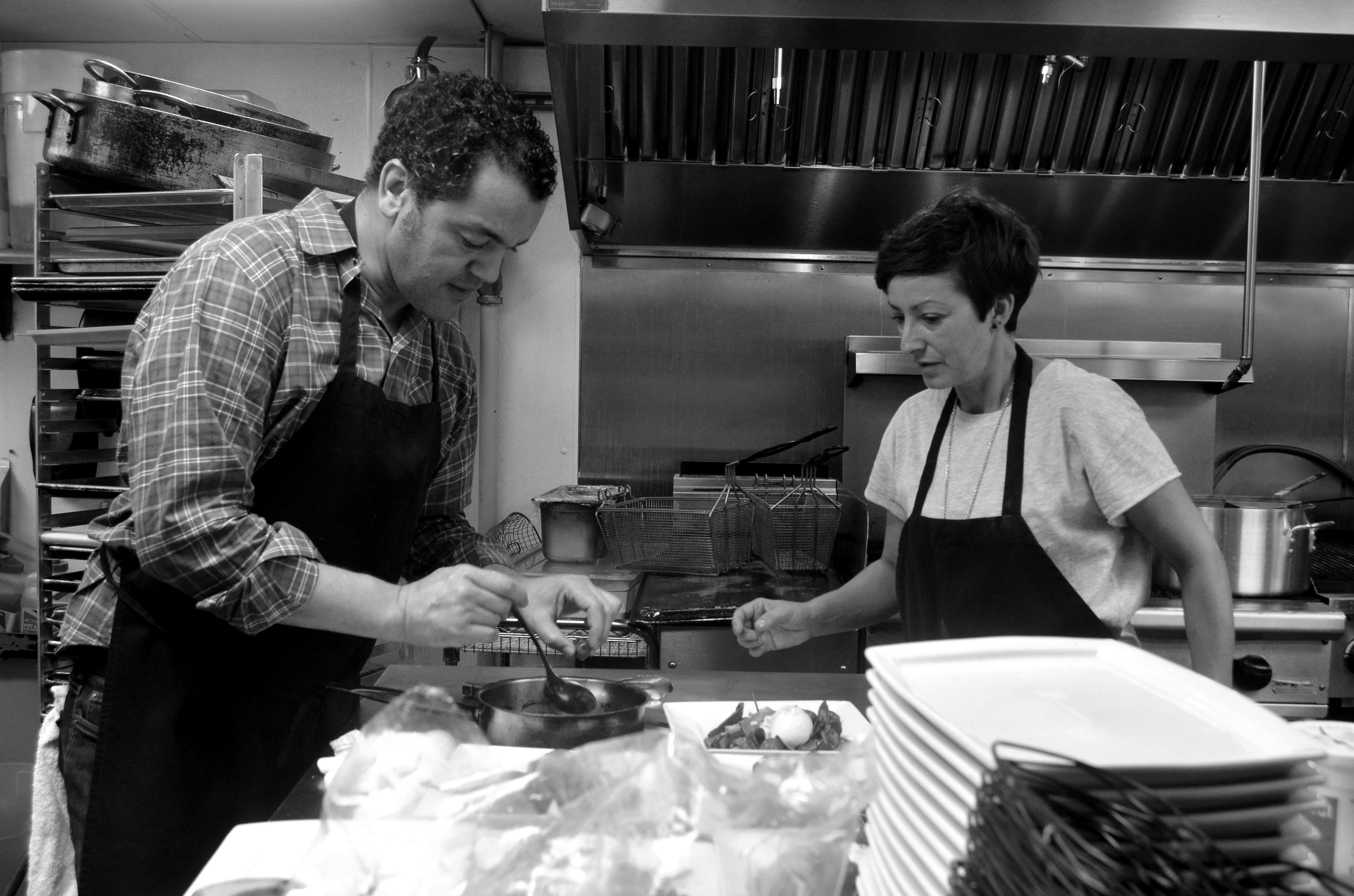 Samad Hachby in the kitchen at Mulino in Raleigh