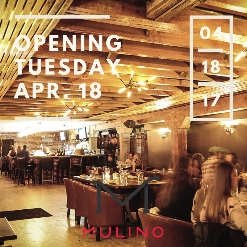 Mulino italian kitchen bar opening tuesday april 18 for Italian kitchen 2017