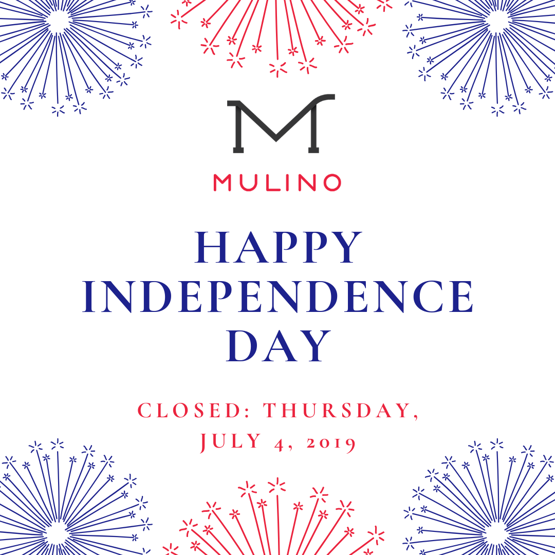 Mulino: Closed July 4, 2019