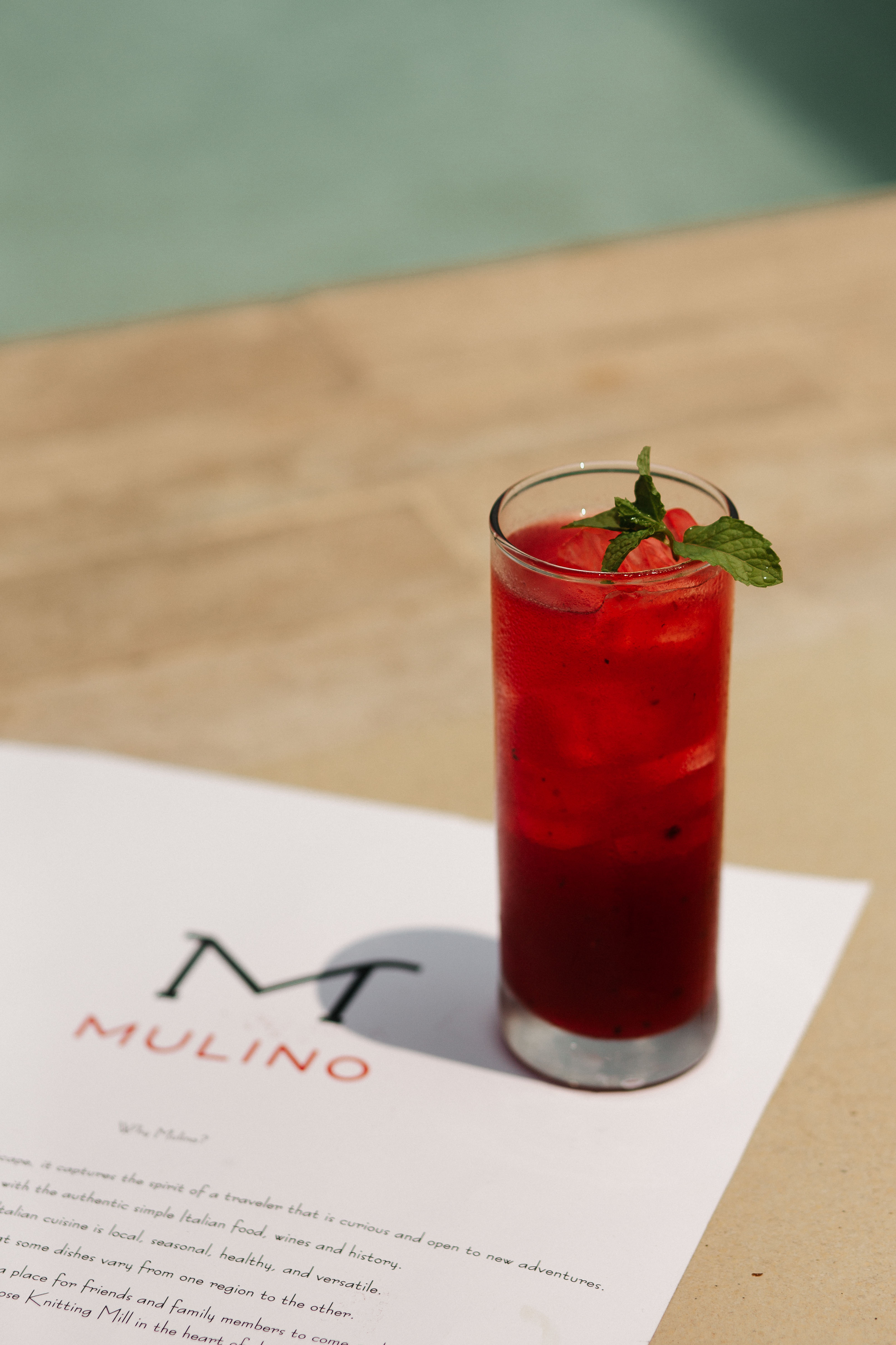Cocktails at Mulino. Photography by Jamie Robbins.