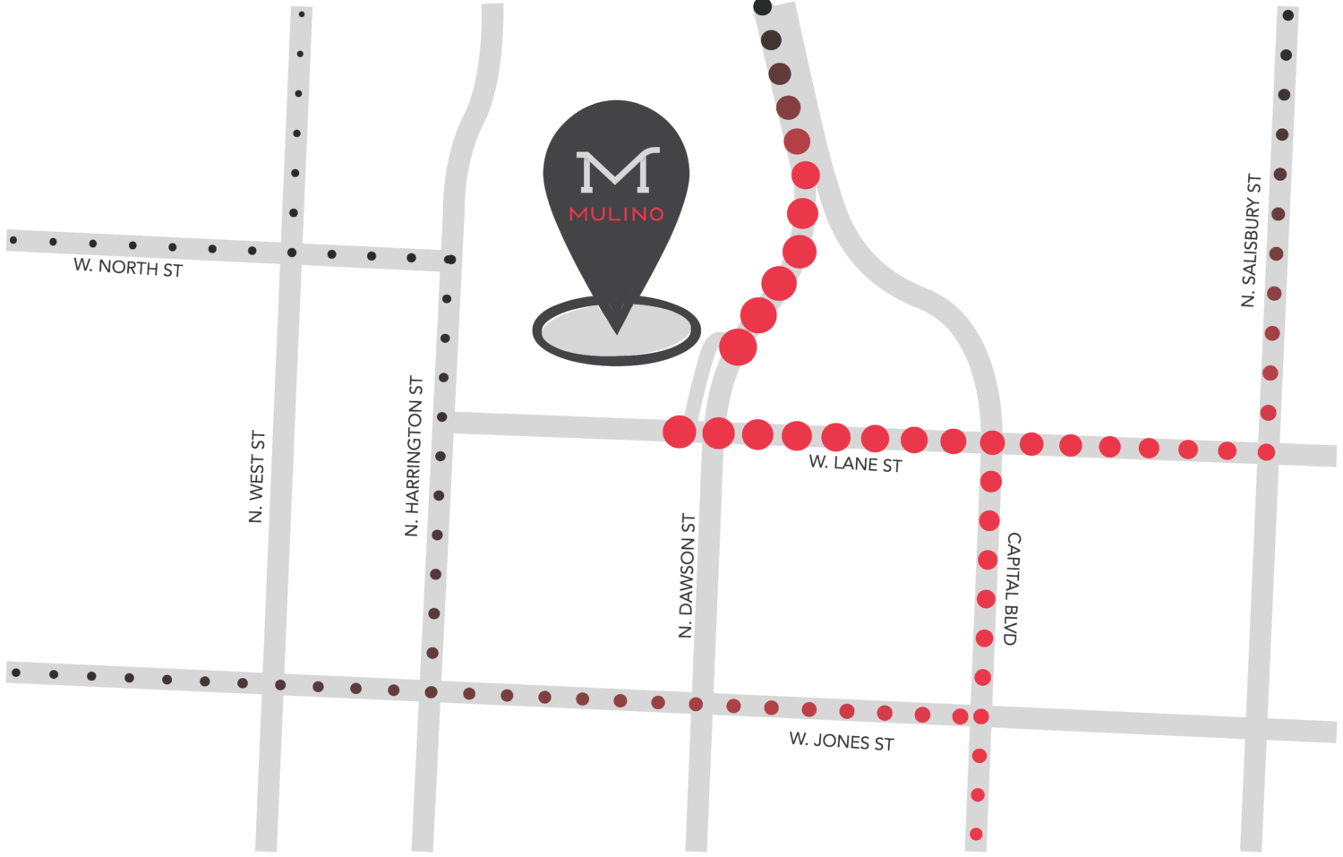Directions to Mulino Italian Kitchen & Bar