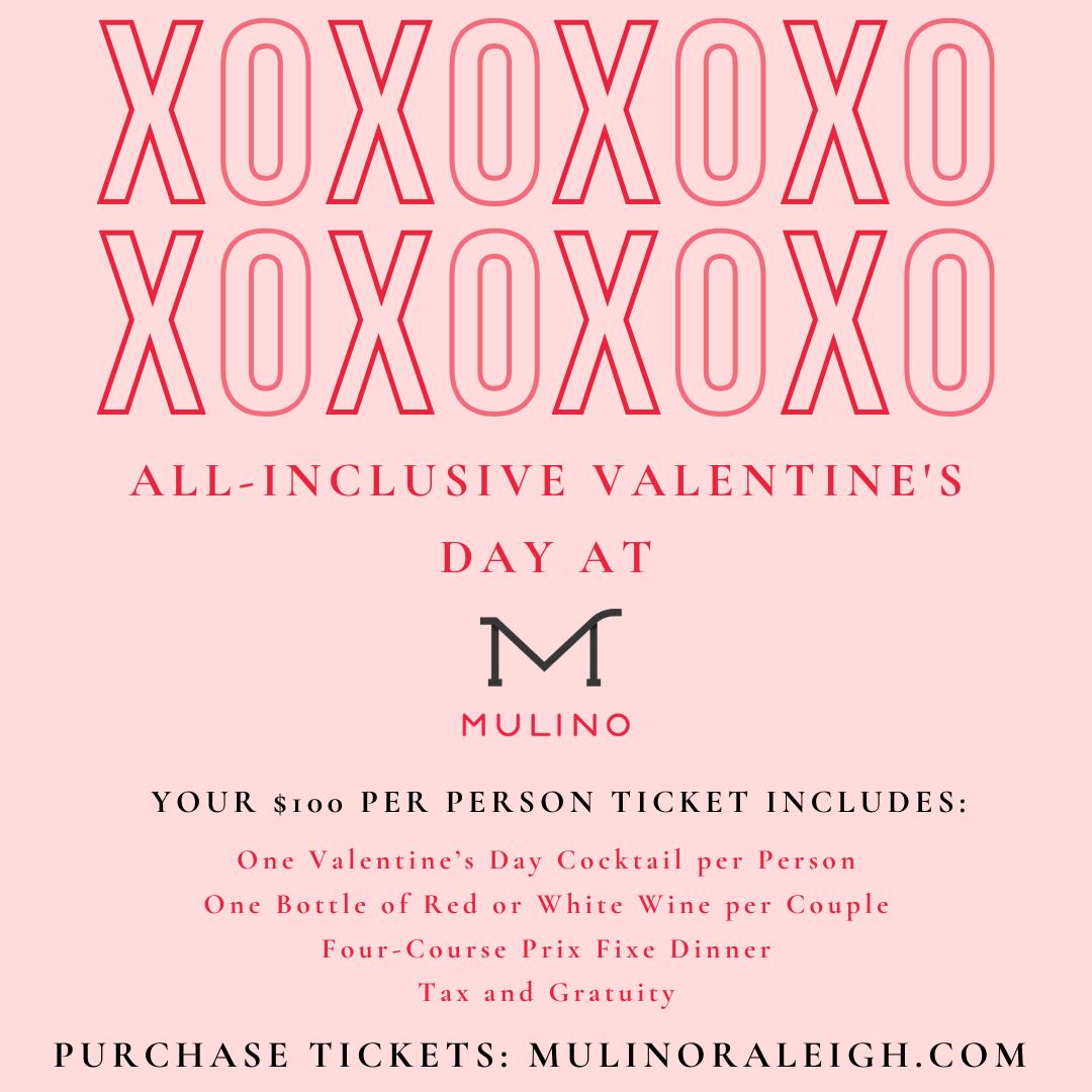 Valentine's Day 2020 at Mulino