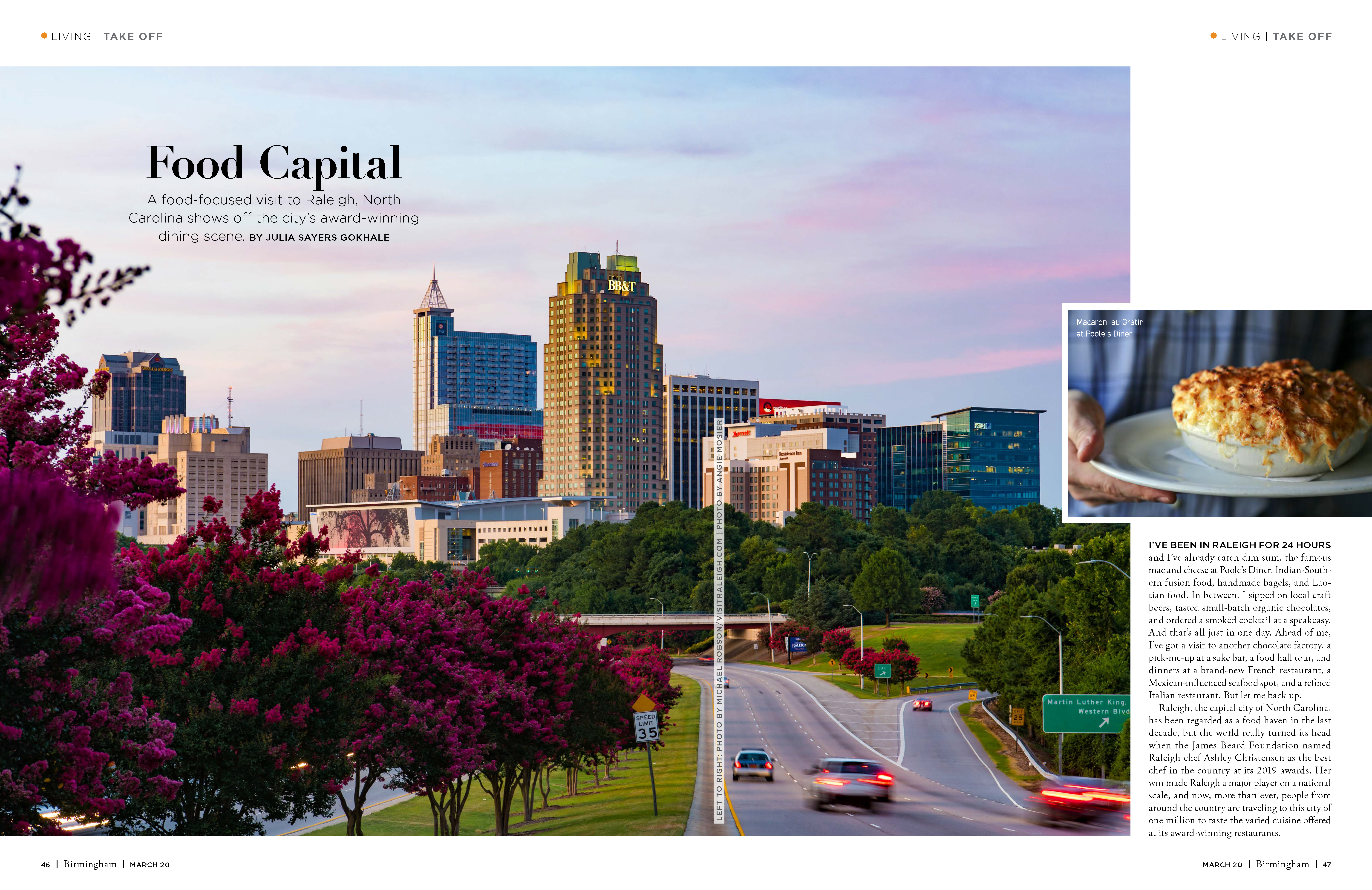Birmingham Magazine - Take a Food Focused Trip to Raleigh_Page_1