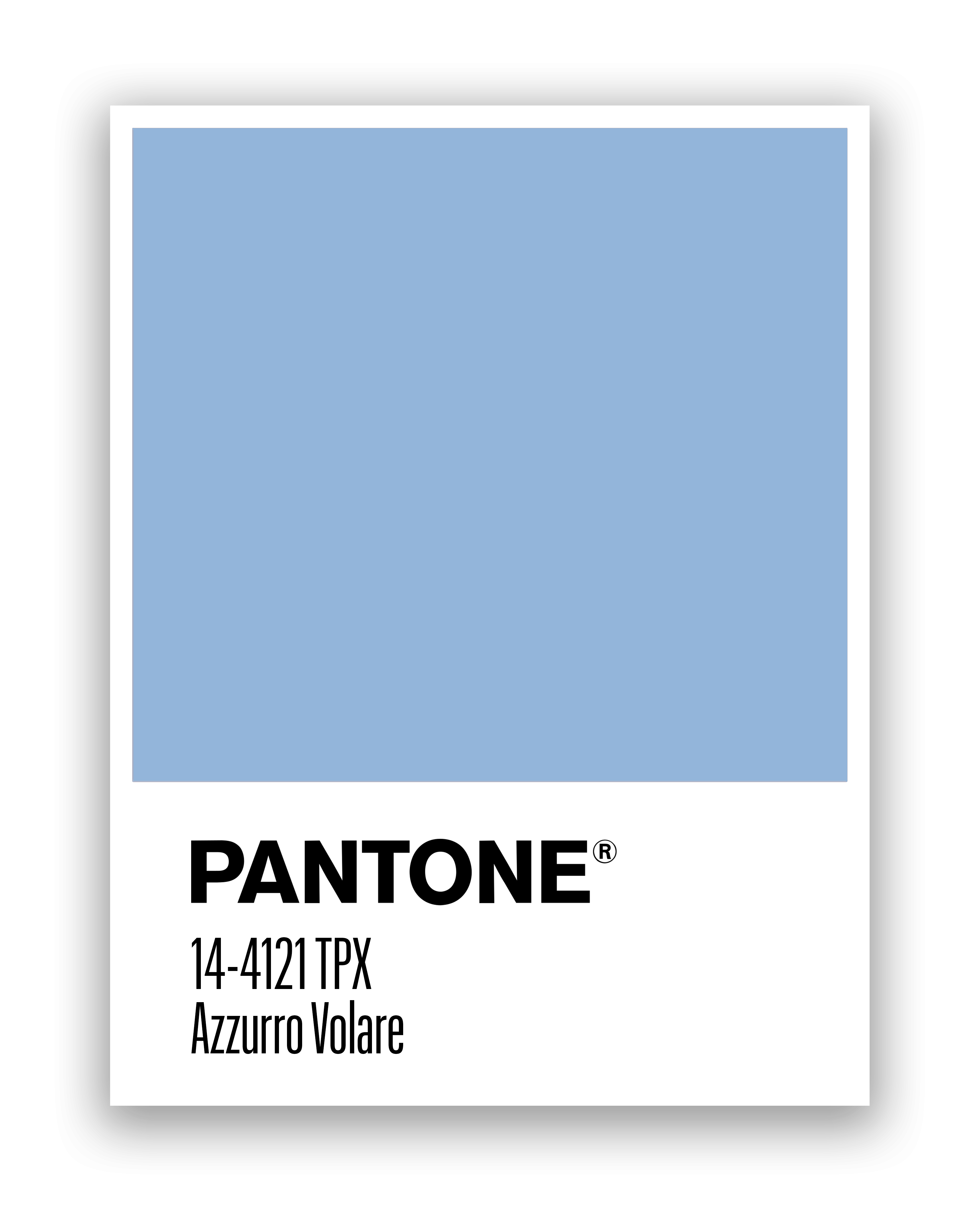 Pantone Azzurro Blue